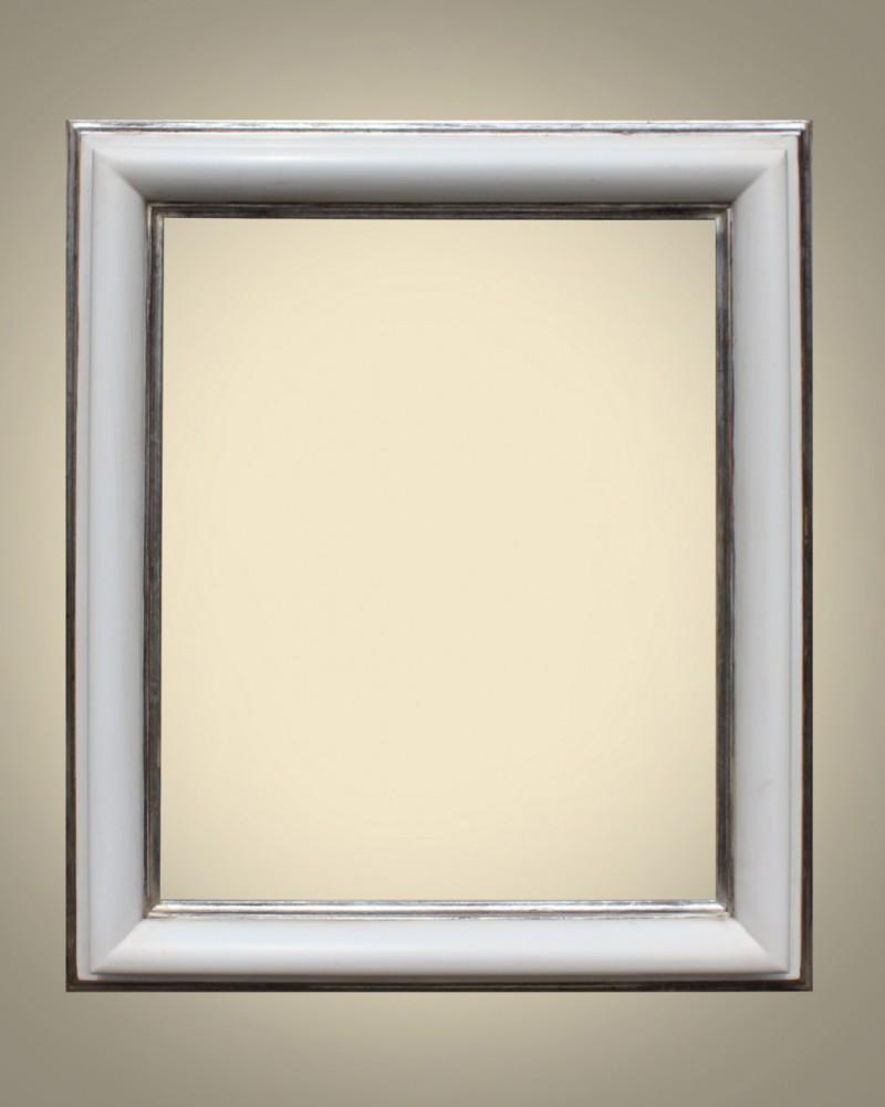 art 697 8 bianco argento cornici laccate oro a guazzo